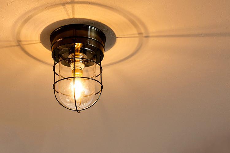 シーリングライト 1灯 モアナ アンティークブラック