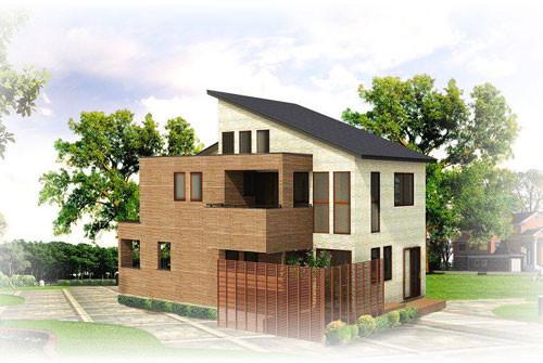 モデルハウスの完成予想図