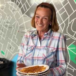 """""""Matmor"""" Wivian lager mat for =Oslo selgerene en dag i uka"""