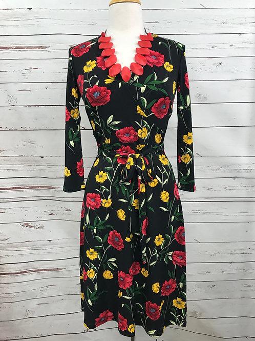 Leota Perfect Wrap Dress in Poppy