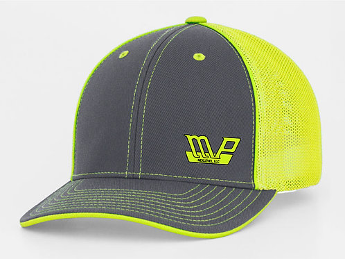 Fitted MPN Cap Graphite/Florescent Green