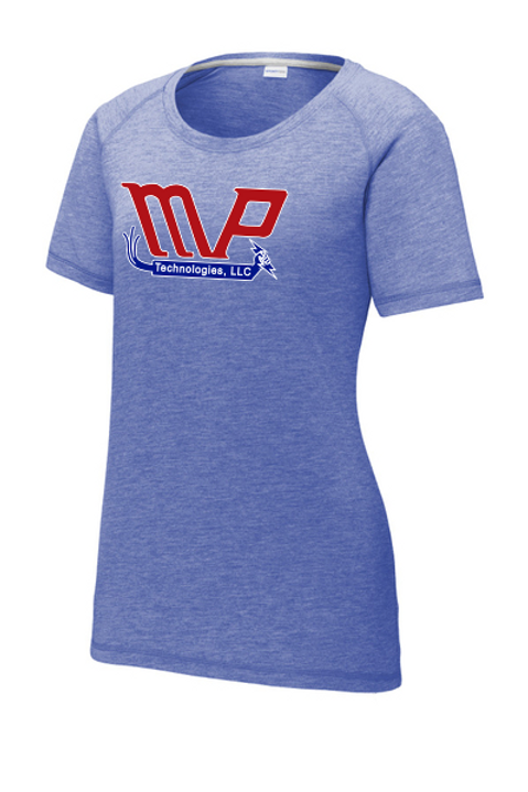 MPT Sport-Tek Ladies Posicharge Tri-Blend Wicking Scoop Neck Raglan Tee