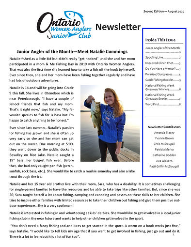 FRONT PAGE August 2020_OWA Jr Newsletter