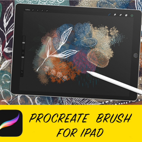 Procreate Brush- Inky Abstract