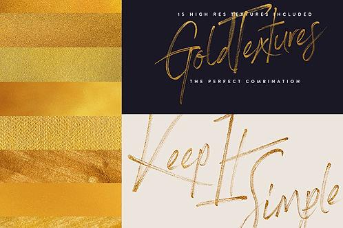 Opentype Font Rustic Gold