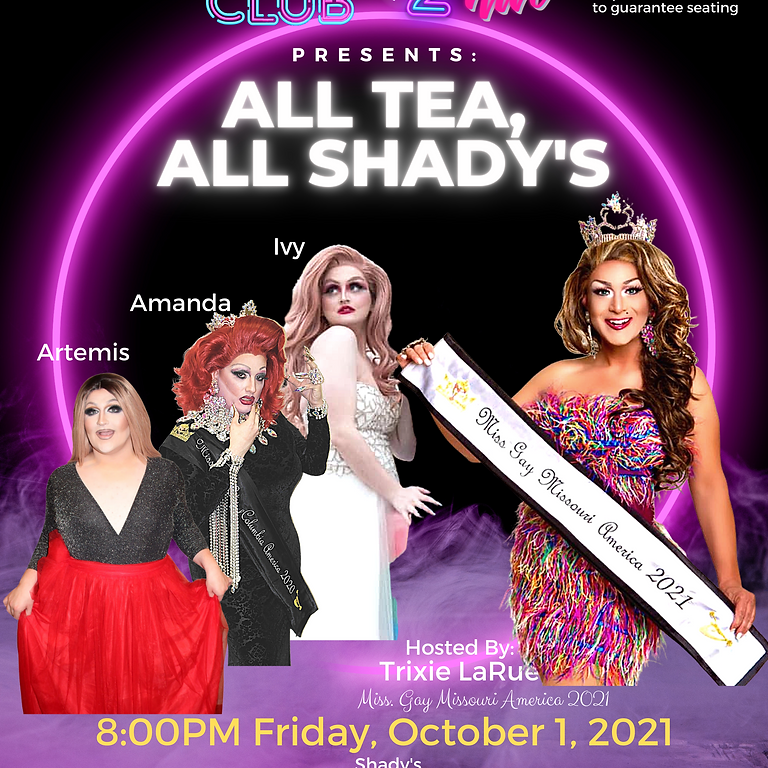 SOLD OUT - Drag2Nite @ Shady's
