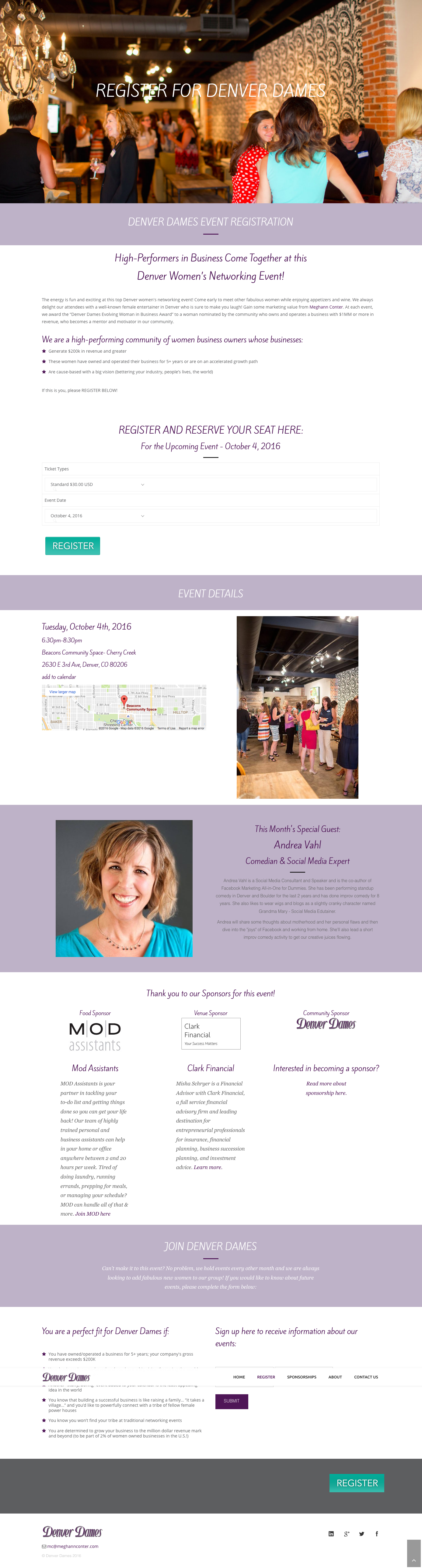 Website design- women's networking