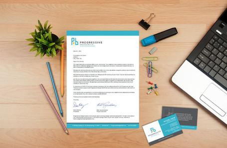 Progressive Letterhead & Business Card
