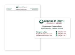Gerard P. Smith Insurance Agency- Business Card & Letterhead