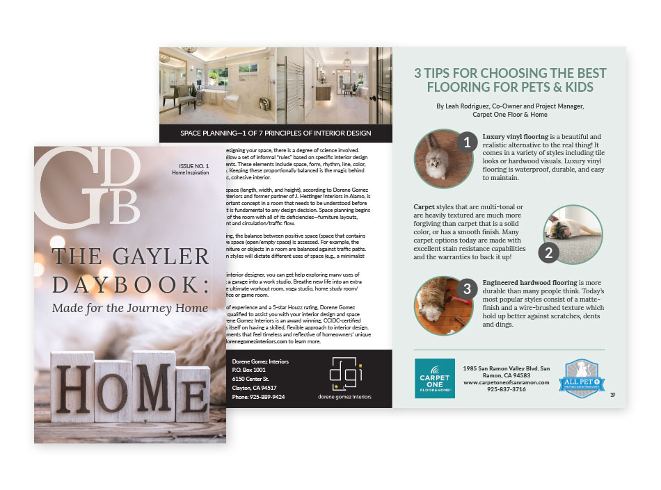 The Gayler Daybook - Magazine Layout