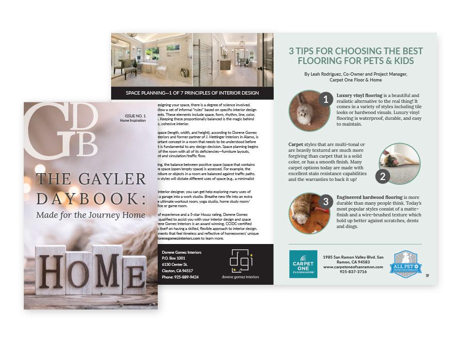 The Gayler Daybook - Magazine Layout