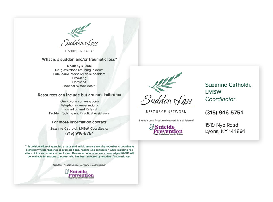 Sudden Loss- Business Card & Letterhead