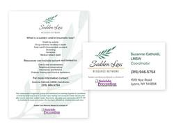 Sudden Loss- Business Card & Letterhead