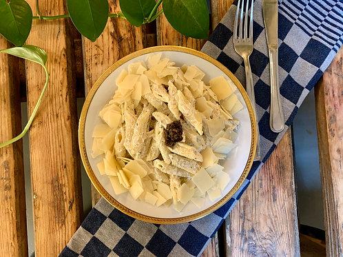 Penne à la tartufata et parmesan