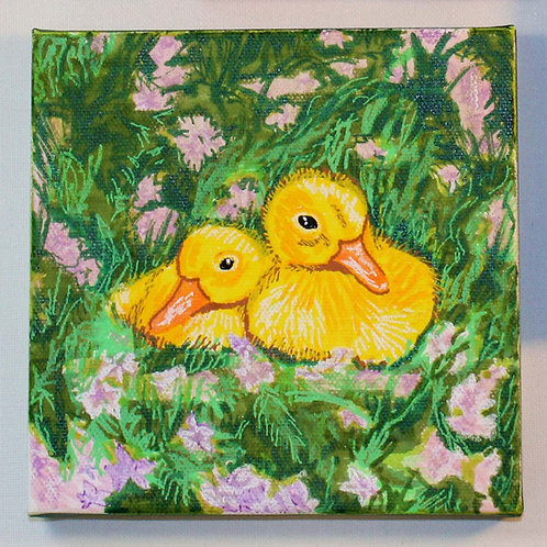 duckies in the grass
