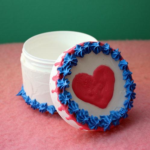 heart cake canister