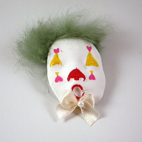 clown magnet (with hair)