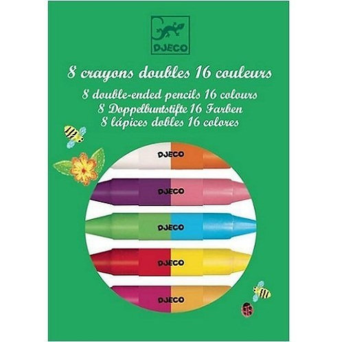 Djeco Double Ended Wax Crayons