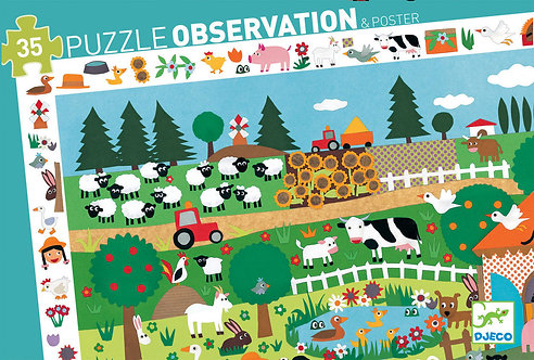 Djeco Puzzle Observation The Farm
