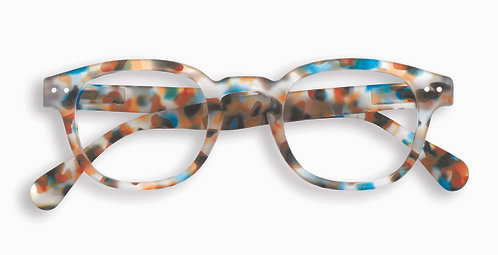 Izipizi Screen Glasses #C The Retro - Blue Tortoise
