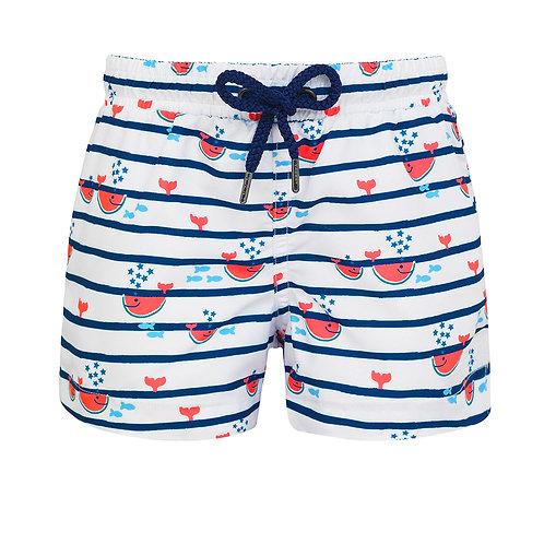 Sunuva Baby Boys Watermelon Whale Swim Shorts