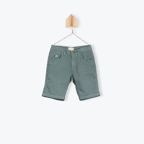 Arsène et les Pipelettes Green Cotton Linen Bermuda Short