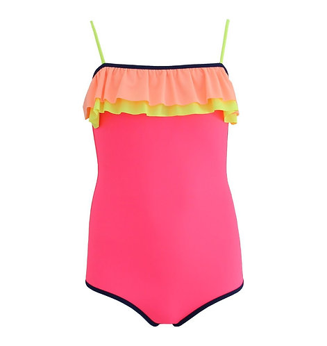 Sunuva Girls Hot Pink Colour Block Swimsuit