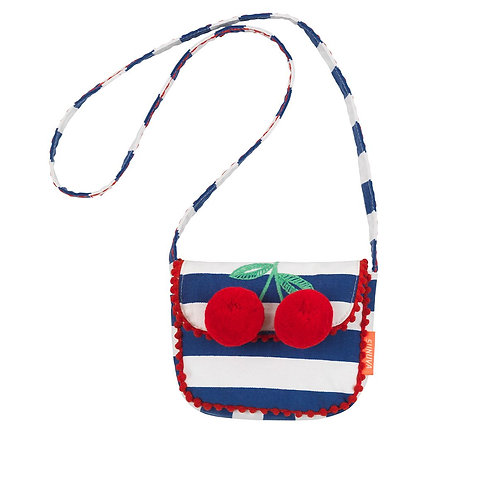 Sunuva Navy Stripes Red Cherries Hippy Bag