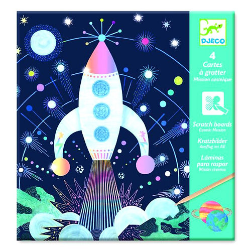 Djeco Cosmic Mission Scratch Cards