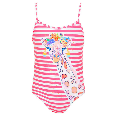 Sunuva Girls Stripe Giraffe Swimsuit