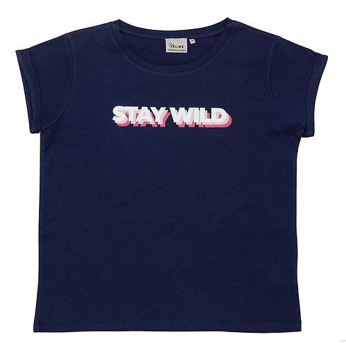 Studio Kelimé T-Shirt Stay Wild Navy