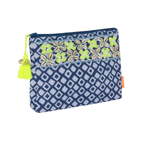 Sunuva Blue Boho Embroidered Washbag