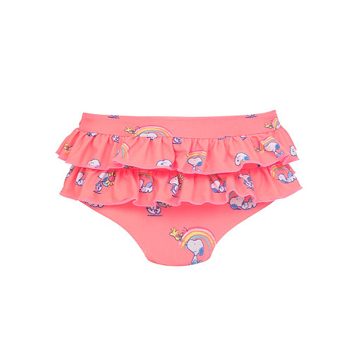 Sunuva Baby Girls Snoopy Frill Nappy Pant