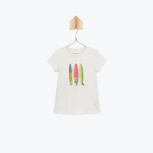 Arsène et les Pipelettes T-Shirt Surf Board Chalk