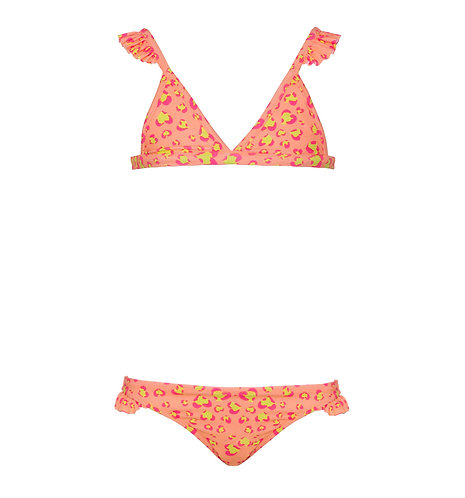 Sunuva Girls Boho Leopard Bikini Orange
