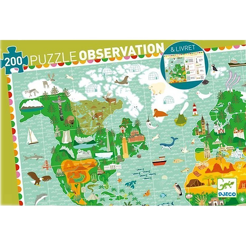 Djeco Puzzle Observation Around The World