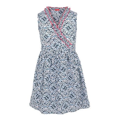 Sunuva Girls Blue Shibori Wrap Dress