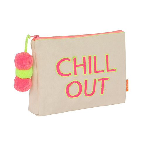 Sunuva Cream Chill Out Pom Pom Washbag