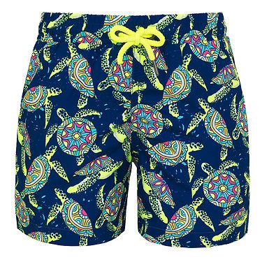Sunuva Boys Psychedelic Turtles Swim Shorts