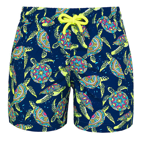 Sunuva Boys Psychedelic Turtles Swim Shorts