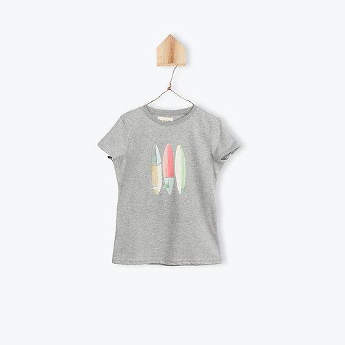 Arsène et les Pipelettes T-Shirt Surf Board Grey