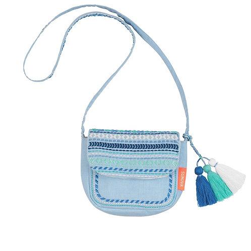 Sunuva Girls Blue Embroidered Hippy Bag