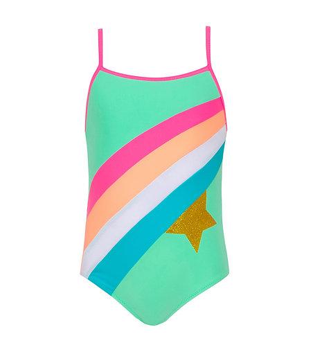 Sunuva Girls Aqua Rainbow Star Swimsuit