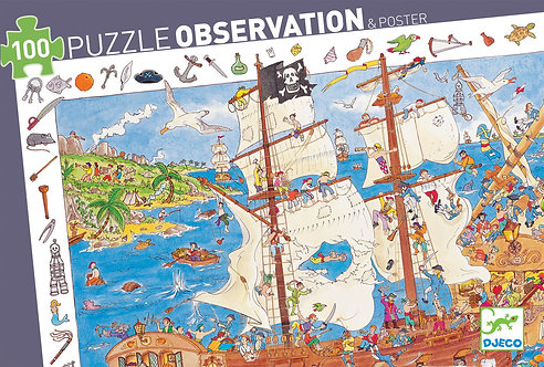Djeco Puzzle Observation The Pirates