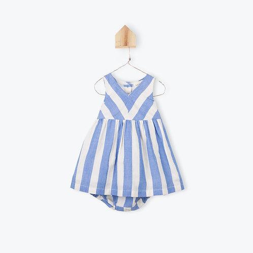 Arsène et les Pipelettes Baby Dress Striped Ocean