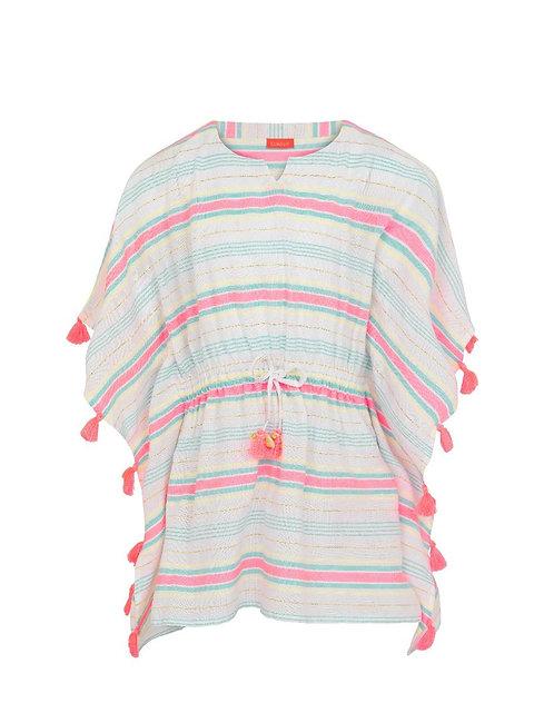 Sunuva Girls Multi Stripe Tassel Kaftan