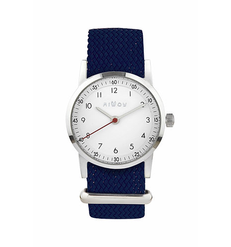 Millow Classique Watch Navy Braided Strap