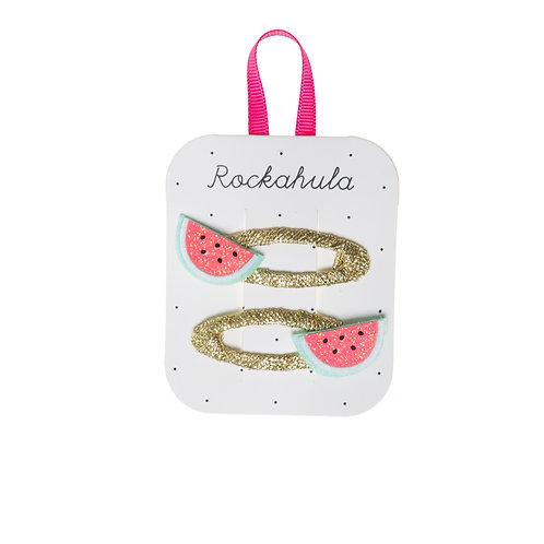Rockahula Little Watermelon Glitter Clips