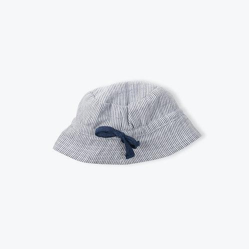 Arsène et les Pipelettes Indigo Stripes Hat