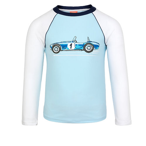 Sunuva Boys Vintage Car Long Sleeve Rash Vest